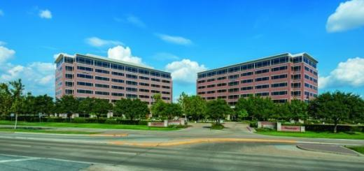 Sugar Creek I and II office buildings in Sugar Land. (Stockdale Capital Partners courtesy photo)