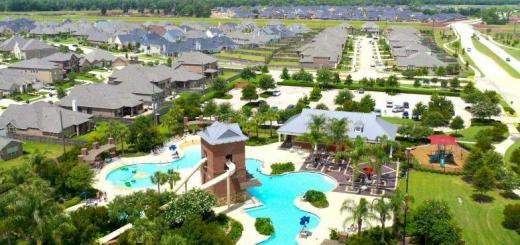 Courtesy Of Johnson Development  This is a view from a remote-controlled aircraft of the Sienna Springs Resort Pool in the Fort Bend County master-planned Sienna Plantation community.